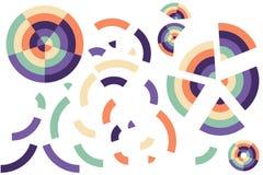 Kolorowi kolorów okręgi, łamający kształty ilustracja wektor