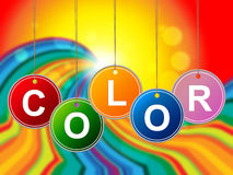 Kolorowi kolorów sposobów farby kolory I Colour ilustracja wektor