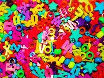 Kolorowi koraliki, liczby i listy, Obraz Royalty Free