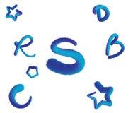 Kolorowi kosmaci listy i kształty ilustracja wektor