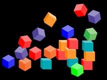 Kolorowi koziołkujący bloki ilustracja wektor