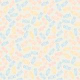 Kolorowi kręceni cukierki bezszwowy wzoru Słodki karmowy tło Fotografia Royalty Free