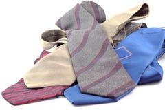Kolorowi krawaty odizolowywający na białym tle. fotografia royalty free