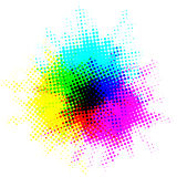 Kolorowi kropka punkty Zdjęcie Royalty Free
