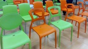Kolorowi krzesła Obrazy Stock