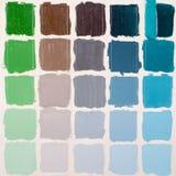 Kolorowi kwadraty - grunge tło Fotografia Royalty Free