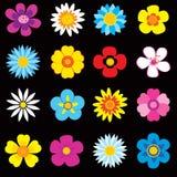 kolorowi kwiaty Ilustracji