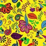 Kolorowi kwiaty Bezszwowi Zdjęcia Royalty Free