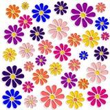 Kolorowi kwiaty rysujący ilustracji