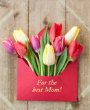 Kolorowi kwiaty w kopercie Zdjęcia Royalty Free