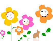 Kolorowi kwiaty w ogródzie zdjęcie royalty free