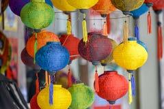 Kolorowi lampions Fotografia Royalty Free