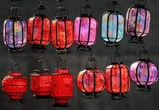 Kolorowi lampiony Zdjęcia Royalty Free
