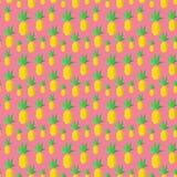 Kolorowi lato ananasy Obrazy Royalty Free