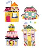kolorowi śliczni domy Zdjęcia Stock