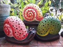 kolorowi ślimaczki Zdjęcia Stock