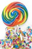 kolorowi lizaka tęczy faborki Zdjęcie Royalty Free