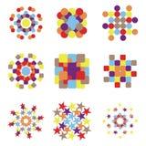 kolorowi logotypy Obrazy Stock