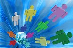 Kolorowi ludzie i świat. Obrazy Stock