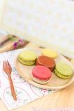 kolorowi macarons zdjęcia stock