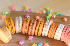 kolorowi macarons Zdjęcia Royalty Free