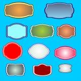 Kolorowi majchery, etykietki, bąble. Wektoru wzór Obrazy Stock