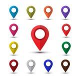 Kolorowi mapa pointery Zdjęcie Royalty Free