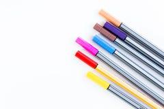 Kolorowi markierów pióra Obrazy Royalty Free