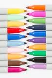 Kolorowi markierów pióra odizolowywający obraz stock