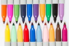 Kolorowi markierów pióra odizolowywający zdjęcia stock