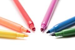 Kolorowi markiery robi formom Obraz Stock