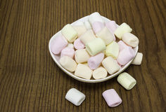 kolorowi marshmallows Obrazy Stock