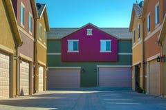 Kolorowi mieszkania własnościowe w Utah dolinie obrazy stock