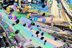 Kolorowi mikro kryszta?y w polaryzuj?cym ?wietle Fotografia przez mikroskopu zdjęcia royalty free