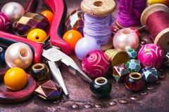 Kolorowi moda koraliki Fotografia Royalty Free