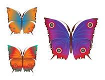 Kolorowi motyle (wektor) Obrazy Royalty Free