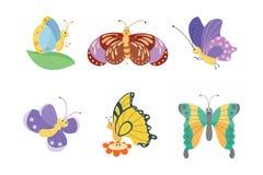 Kolorowi motyle wektorowi Zdjęcia Stock