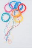 Kolorowi nić balony zdjęcie royalty free