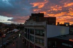 Kolorowi nieba nad Boston obrazy stock