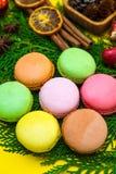Kolorowi nowy rok Macaroons Zdjęcia Royalty Free
