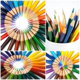 kolorowi ołówki zdjęcia royalty free