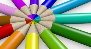 kolorowi ołówki ilustracji