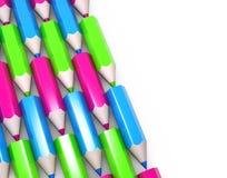 kolorowi ołówki ustawiają Obraz Royalty Free
