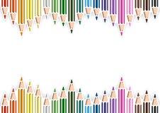 Kolorowi ołówki w wycinanka stylu na Białym tle royalty ilustracja