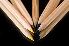 kolorowi ołówki Fotografia Royalty Free