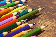 Kolorowi ołówki Obrazy Royalty Free
