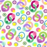 Kolorowi okręgi na lekkiego tła bezszwowym wzorze Obrazy Royalty Free