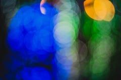 Kolorowi okręgi lekki abstrakcjonistyczny bokeh Obrazy Royalty Free