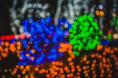 Kolorowi okręgi lekki abstrakcjonistyczny bokeh Zdjęcia Stock