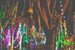 Kolorowi okręgi lekki abstrakcjonistyczny bokeh Fotografia Royalty Free